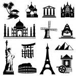 Landmarks — Stock Vector