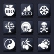 Healthy living icons — Vettoriali Stock