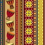 African drum beckground — Stock Vector #28031645