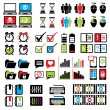 Set web computer icons — Stock Vector