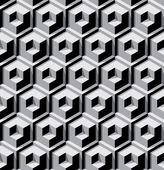 Fondo cubos dimensionales — Vector de stock