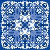 Blue vintage otnament — Stock vektor