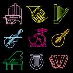 Symbols musical instruments — Stock Vector #35552545