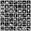 Vector de stock : Set travel icons