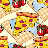 Pizza bezešvé — Stock vektor