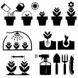 Set agrotechnics icons — Stock Vector #40499321