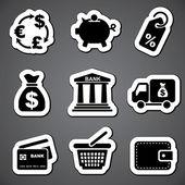 Finance sticker  label — Stock Vector