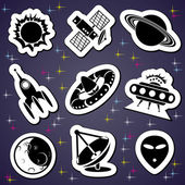 Space exploration label — Stock Vector