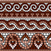 Mosaico grego clássico — Vetor de Stock