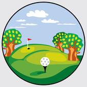Golf emblem — Stock Vector