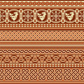 Slavic ornament seamless — Stock Vector