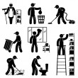 Peoples cleaning — Stock Vector #51117041