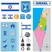 Mapa de israel — Vector de stock