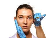 Encuesta antes de la cirugía plástica — Foto de Stock