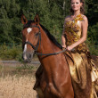 Stockfoto: Woman with horse