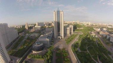 35 floors skyscraper Gazprom Headquarters — Stock Video