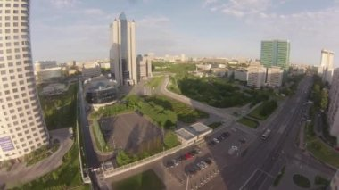 35 floors skyscraper Gazprom Headquarters — Stock Video