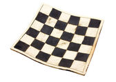 Curved  chess board — Stock Photo