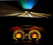 Hız araba kontrol paneli — Stok fotoğraf