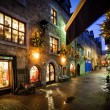 Stock Photo: Old city street at night