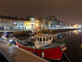 Galway Docks at night — Stock Photo