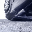 Car crash, detail - Stock Photo