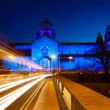 Stock Photo: Galway Cathedral lit up blue