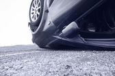 Car crash, detail — Stock Photo