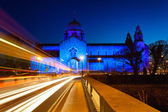 Galway Cathedral lit up blue — Stock Photo