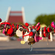 Padlocks on the chain — Stock Photo
