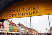 Sign Canal tours in Copenhagen. — Stock Photo