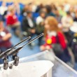 Microphones in conference room — Stock Photo #35569599