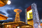 Christmas Market illuminated at night — Stock Photo