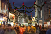 Shop street at night, Galway — Stock Photo