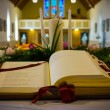Open Bible in Church. Close up — Stock Photo #45128821