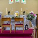 Wedding set up in Church. Ireland — Stock fotografie