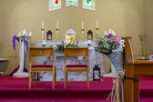 Wedding set up in Church. Ireland — Foto de Stock
