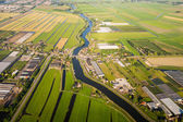 Aerial view over the Amsterdam suburbs — Stock Photo