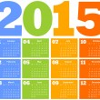 Stock Vector: Calendar for Year 2015