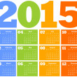 Calendar for Year 2015 - Stockvectorbeeld