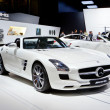 MOSCOW-SEPTEMBER 4: Mercedes AMG SLS roadster at the Moscow International M - 
