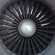 Turbine of airplane, closeup - 