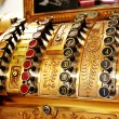 Antique store cash register buttons close - 