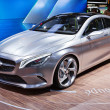 MOSCOW-SEPTEMBER 4: Mercedes concept coupe at the Moscow International Moto - Lizenzfreies Foto