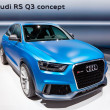 MOSCOW-SEPTEMBER 4: Audi R3 Q3 at the Moscow International Motor Show on Se - Lizenzfreies Foto