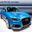 MOSCOW-SEPTEMBER 4: Audi R3 Q3 at the Moscow International Motor Show on Se - Stockfoto