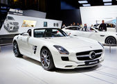 MOSCOW-SEPTEMBER 4: Mercedes AMG SLS roadster at the Moscow International M — Zdjęcie stockowe
