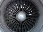 Turbine of airplane, closeup — Stock Photo