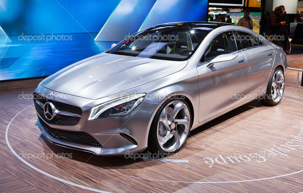 Mercedes concept coupe at the Moscow International Motor Show on September 4,2012 in Moscow  Stock Photo #12670517