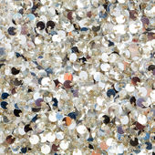 Silver sequins texture — Stock Photo